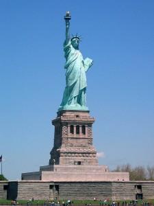 Statue of Liberty, het bekende vrijheidsbeeld.